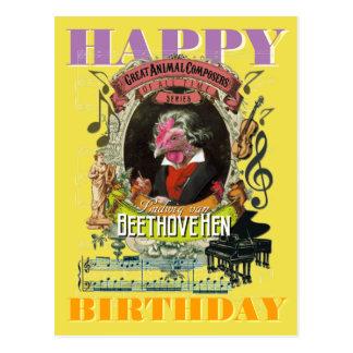 Beethovehen Beethoven Happy Birthday Postcard