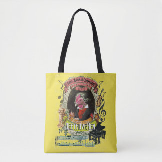 Beethovehen Funny Hen Animal Composer Beethoven Tote Bag