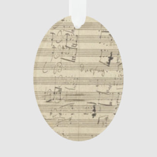 Beethoven 9th Symphony Music Manuscript Score Ornament