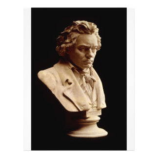 Beethoven bust statue full color flyer