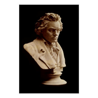 Beethoven bust statue poster