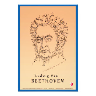 Beethoven Face the Music Art Photo