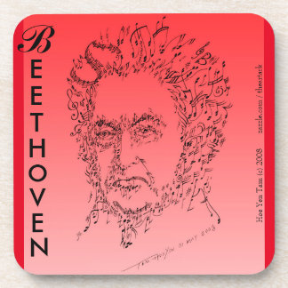 Beethoven Face the Music Beverage Coaster