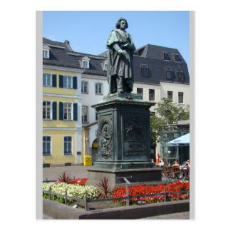 Beethoven (full) Statue Bonn Germany Postcard