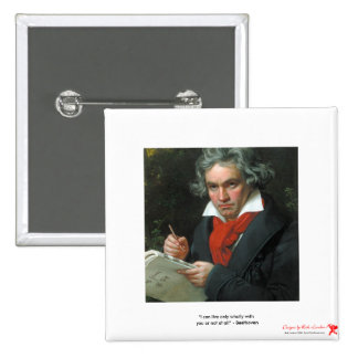 Beethoven Gifts Tees Collectibles ON SALE 15 Cm Square Badge