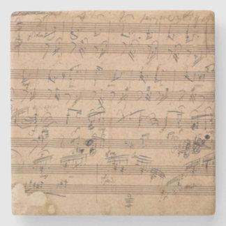 Beethoven Hammerklavier Sonata Music Manuscript Stone Coaster