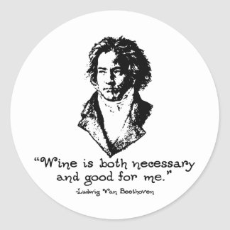Beethoven -L Classic Round Sticker