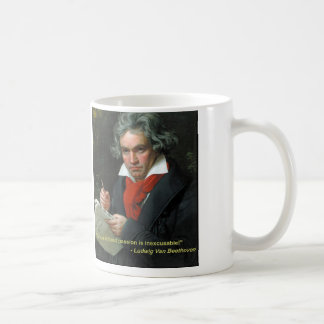 "Beethoven Mug ""To Play Without Passion"""