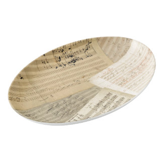 Beethoven Music Manuscript Medley Porcelain Serving Platter