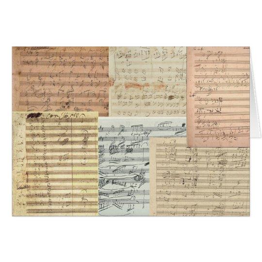 Beethoven Music Manuscripts Card