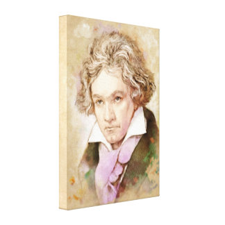 Beethoven on Canvas - Watercolor Style