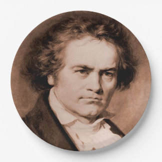 Beethoven Paper Plate