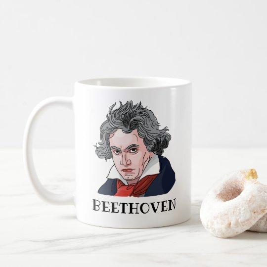 Beethoven Portrait Illustration Coffee Mug