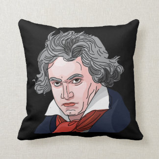 Beethoven Portrait Illustration Cushion