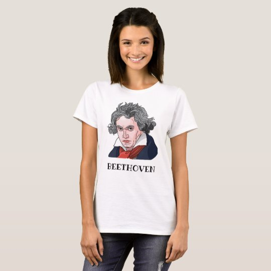 Beethoven Portrait Illustration T-Shirt