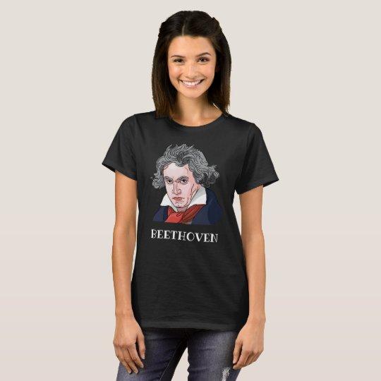 Beethoven Portrait Illustration T-Shirt