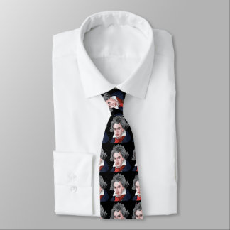 Beethoven Portrait Illustration Tie