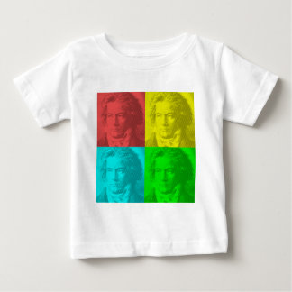 Beethoven Portrait In Squares Baby T-Shirt