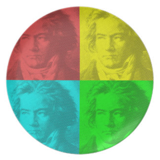 Beethoven Portrait In Squares Plate