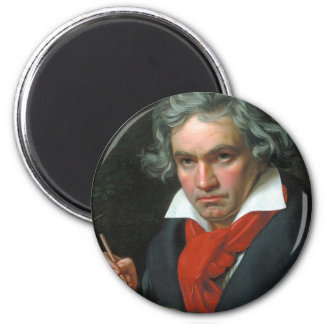 Beethoven Product Fine Art Classical Collection 6 Cm Round Magnet