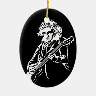 Beethoven Rock! Ceramic Ornament