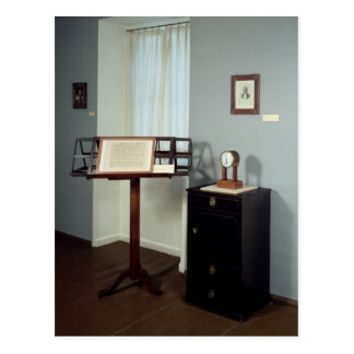 Beethoven Room displaying a music stand Postcard