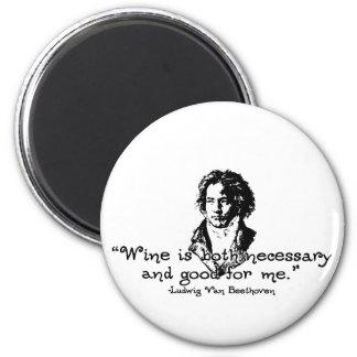 Beethoven -S 6 Cm Round Magnet