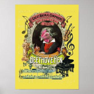 Beethoven Spoof Parody Beethovehen Hen Poster