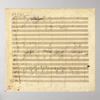 Beethoven Symphony No. 9 Original Manuscript Print