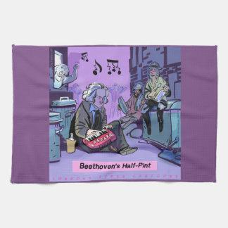 Beethoven's Half Pint Funny Kitchen Towel