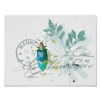 beetle insect print