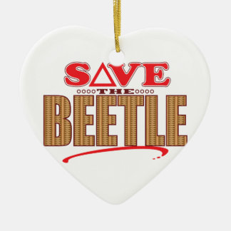 Beetle Save Ceramic Ornament