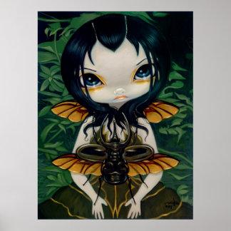Beetle Wings gothic fairy Art Print