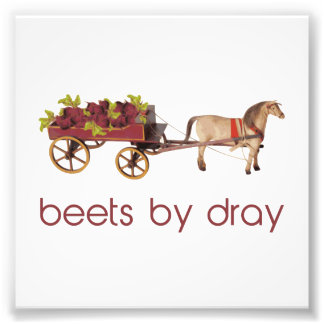 Beets by Horse Drawn Dray Photo Print