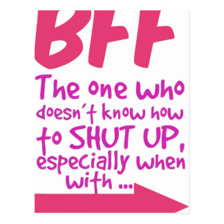 BEF the one who doesn't know how to shut up Postcard