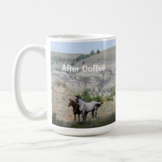 Before & After Coffee with Wild Horses Coffee Mug
