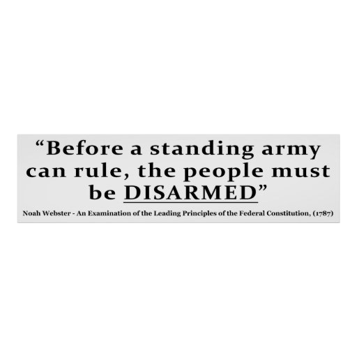 Before an army can rule people must be DISARMED Posters