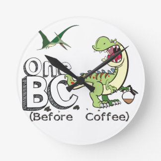 Before Coffee Round Clock
