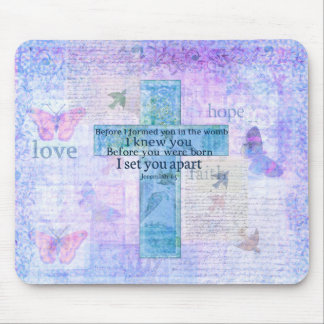 Before I formed you in the womb Jeremiah 1:5 Bible Mousepads