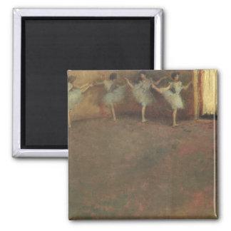 Before the Ballet by Edgar Degas, Vintage Fine Art Square Magnet