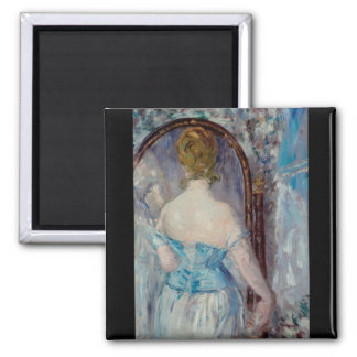 Before the Mirror by Edouard Manet Magnet