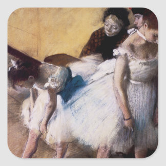 Before the Rehearsal by Edgar Degas Square Sticker