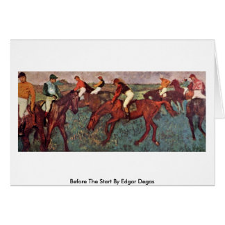 Before The Start By Edgar Degas Card