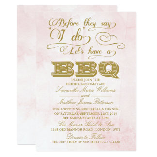Before They Say I Do Lets Have A BBQ! Card