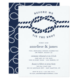 Before We Tie the Knot Rehearsal Dinner Invitation