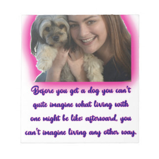 Before you get a dog notepad