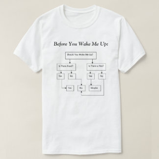 Before You Wake Me Up Decision Tree T-Shirt