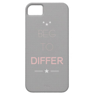 Beg to Differ Minimalistic Design Phone Case