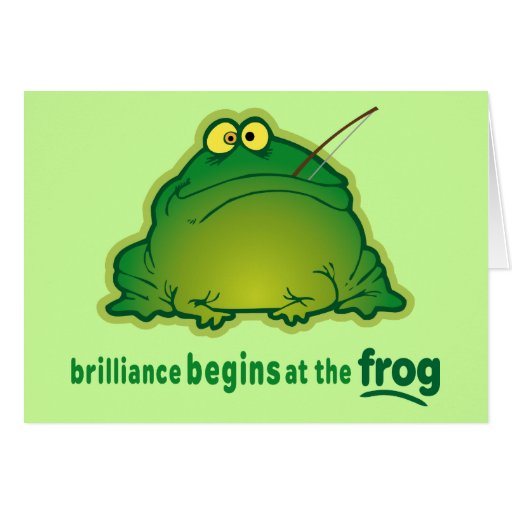 Begin At The Frog Funny Orchestra Joke Cards | Zazzle Frog Puns