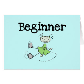 Beginner Ice Skater Tshirts and Gifts Card